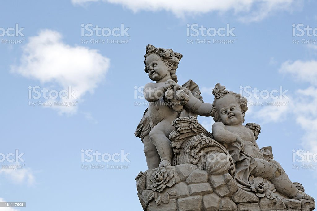 baroque sculptures stock photo