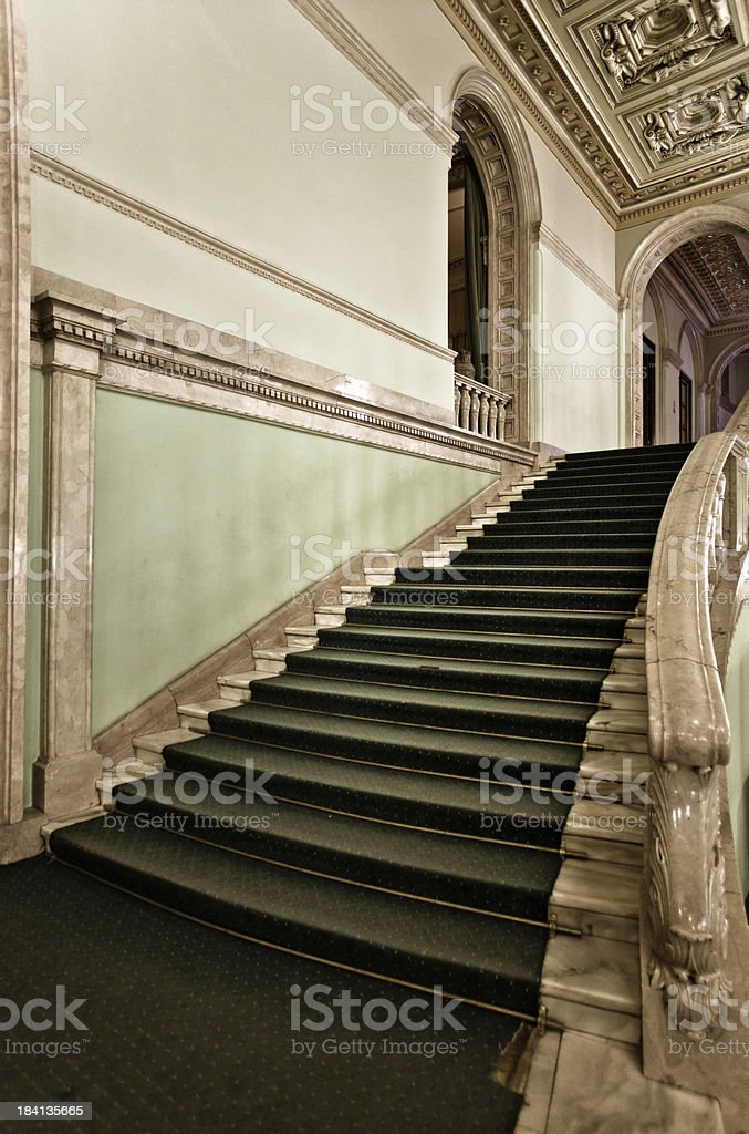 Baroque staircase royalty-free stock photo