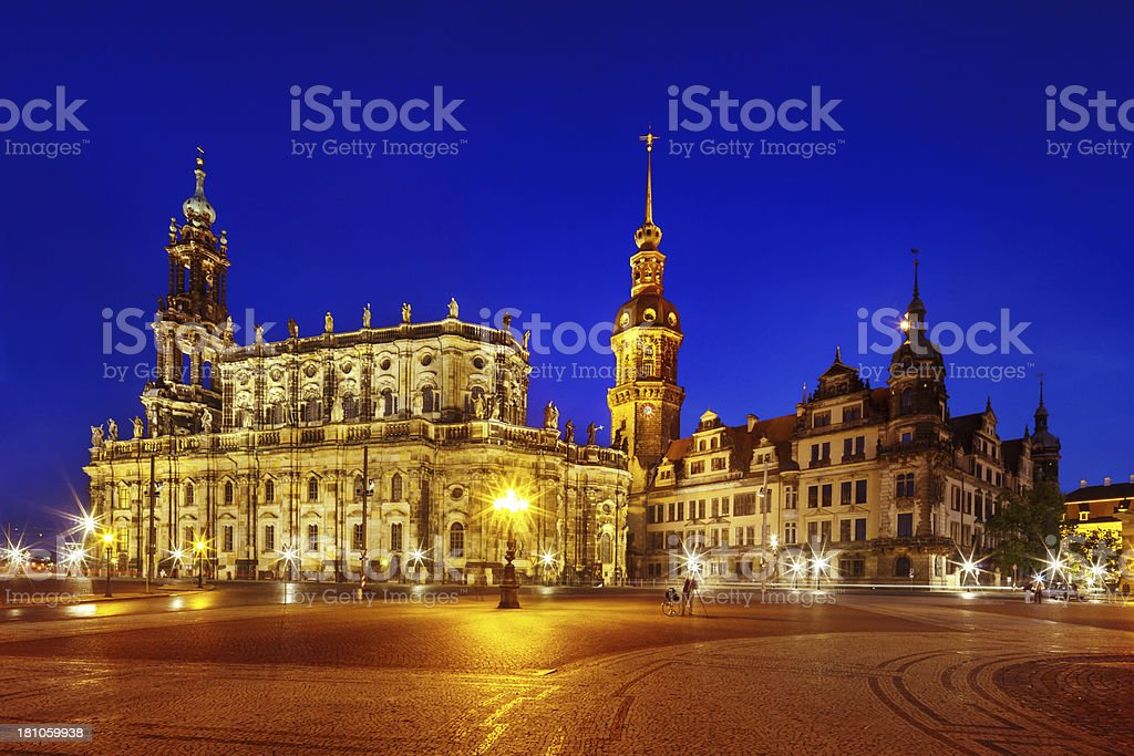 Baroque Style Architecture in Dresden, Germany royalty-free stock photo