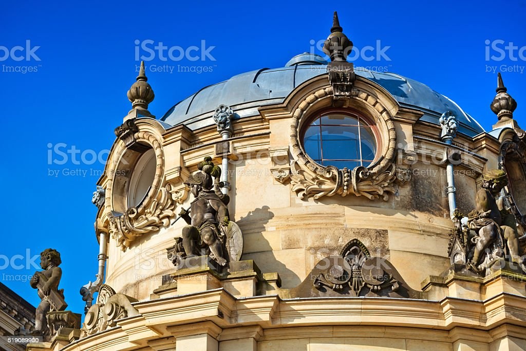Baroque Style Architecture, Zwinger  in Dresden, Germany stock photo