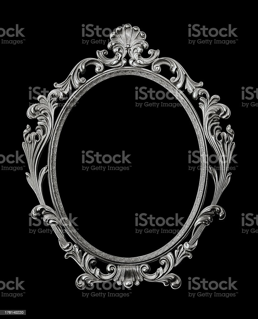 Baroque style picture frame. royalty-free stock photo
