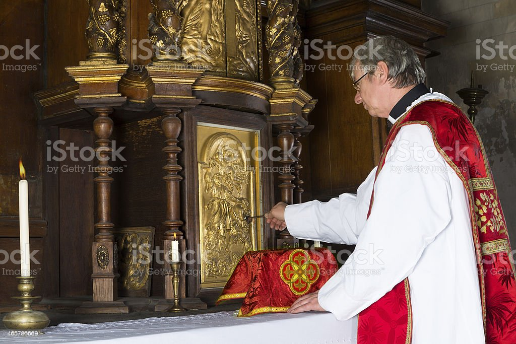 Baroque tabernacle stock photo