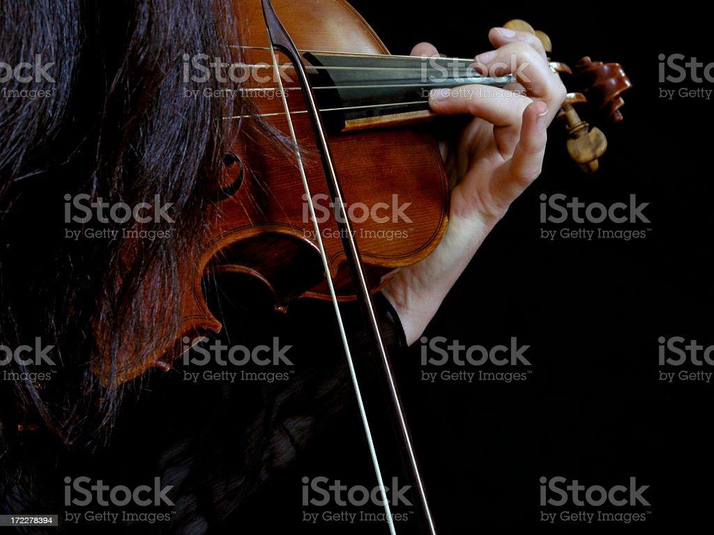 Baroque violinist royalty-free stock photo