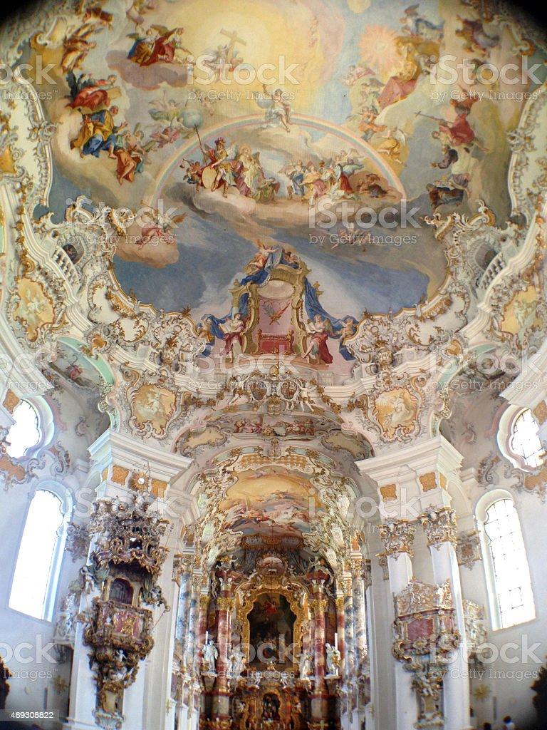Baroque Wies Church Bavaria stock photo