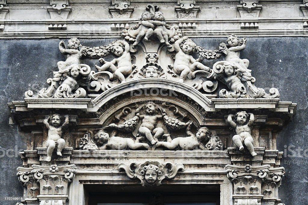 Baroque window royalty-free stock photo