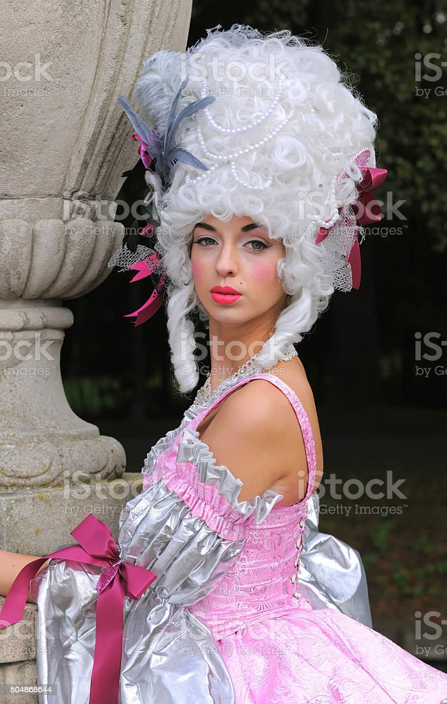 Baroque Woman Portrait four stock photo