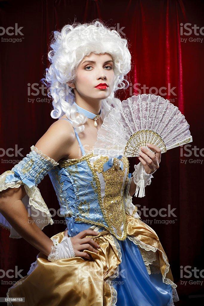 Baroque woman portrait royalty-free stock photo