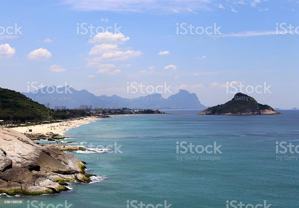 Barra da Tijuca and Pontal beaches in Rio de Janeiro stock photo