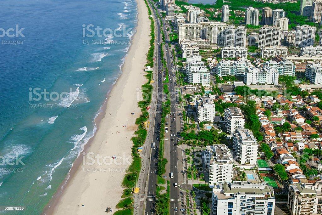Barra da Tijuca Beach in Rio de Janeiro stock photo