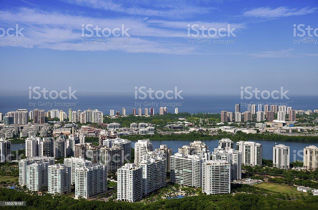 Barra da Tijuca district in Rio de Janeiro royalty-free stock photo