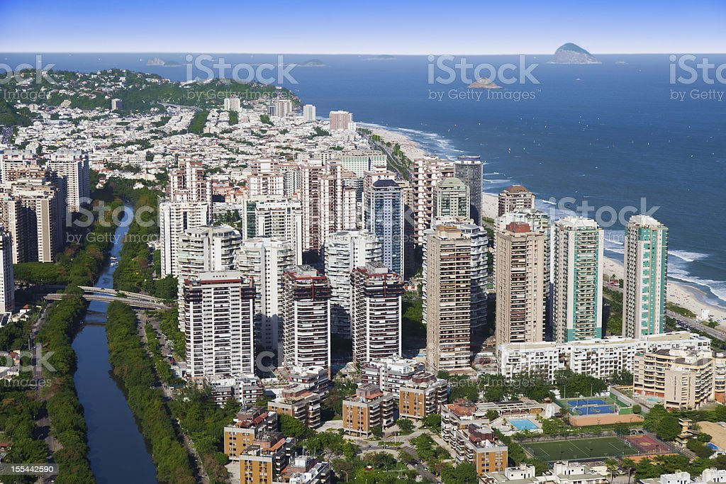 Barra da Tijuca district in Rio de Janeiro royalty-free stock photo
