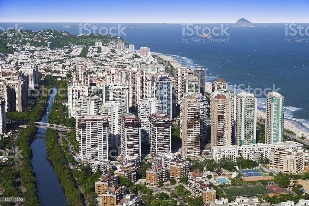 Barra da Tijuca district in Rio de Janeiro stock photo