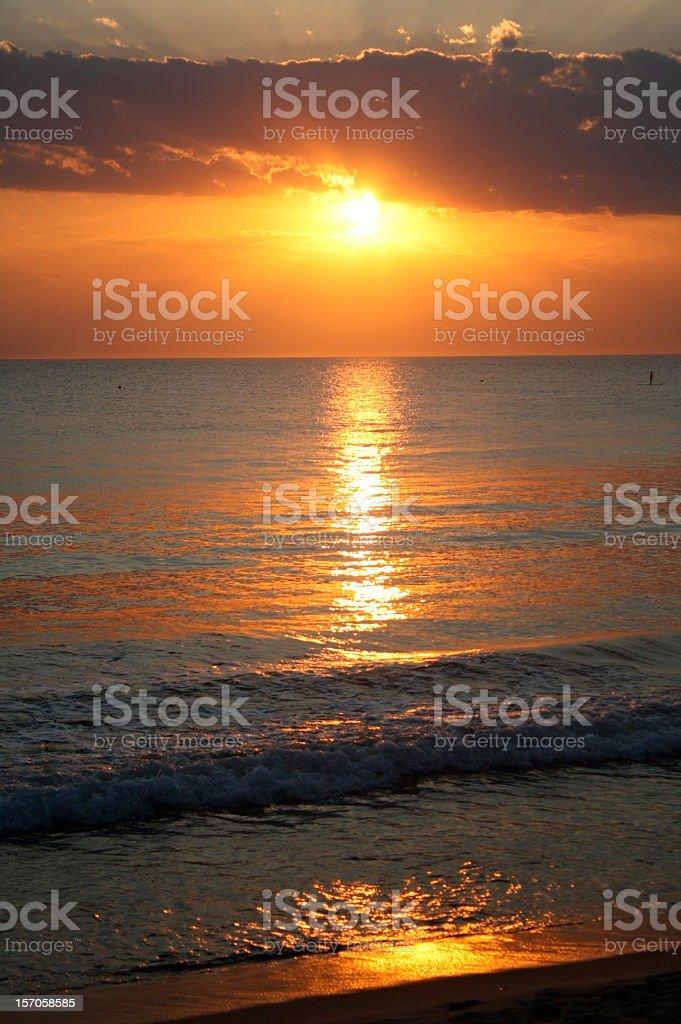 Barra do Sahy Beach at Sunset royalty-free stock photo