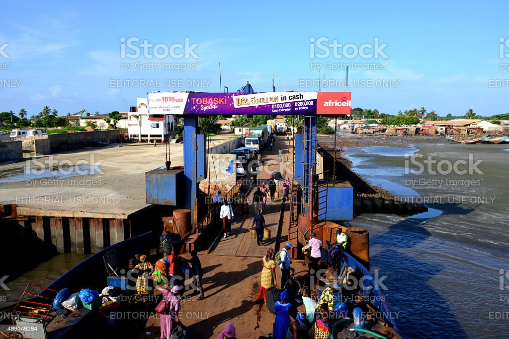 Barra, The Gambia: ferry terminal stock photo