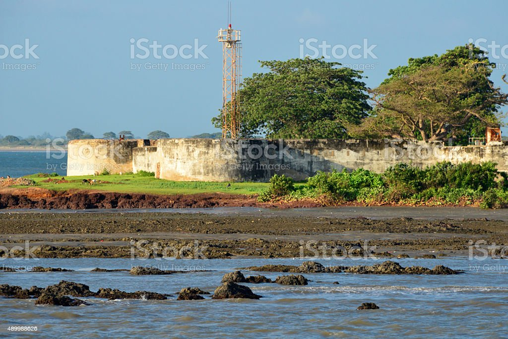 Barra, The Gambia: Fort Bullen stock photo