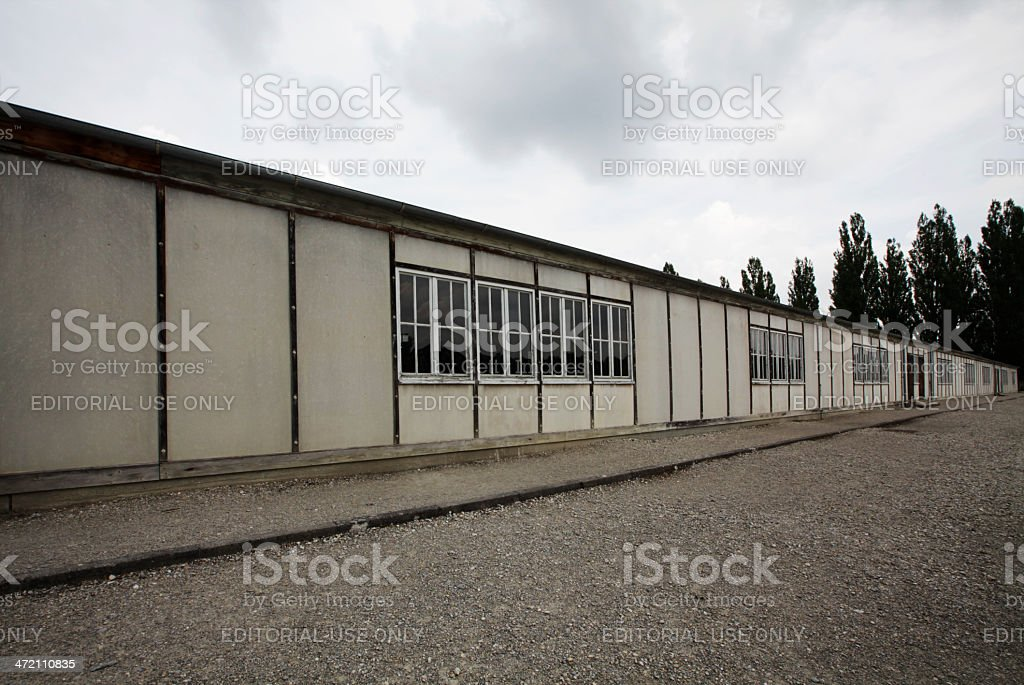 Barrack of Dachau Concentration Camp stock photo