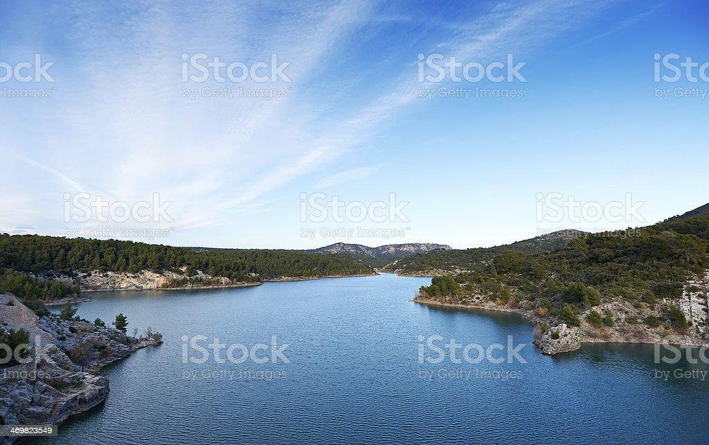 Barrage de Bimont stock photo