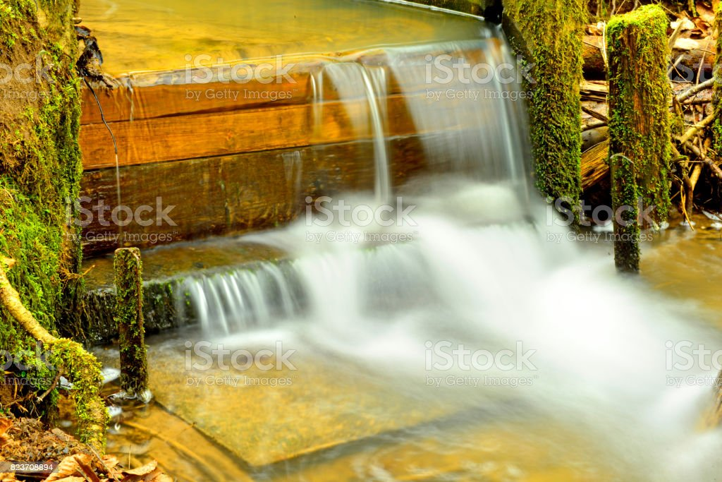 Barrage in a German forest stock photo