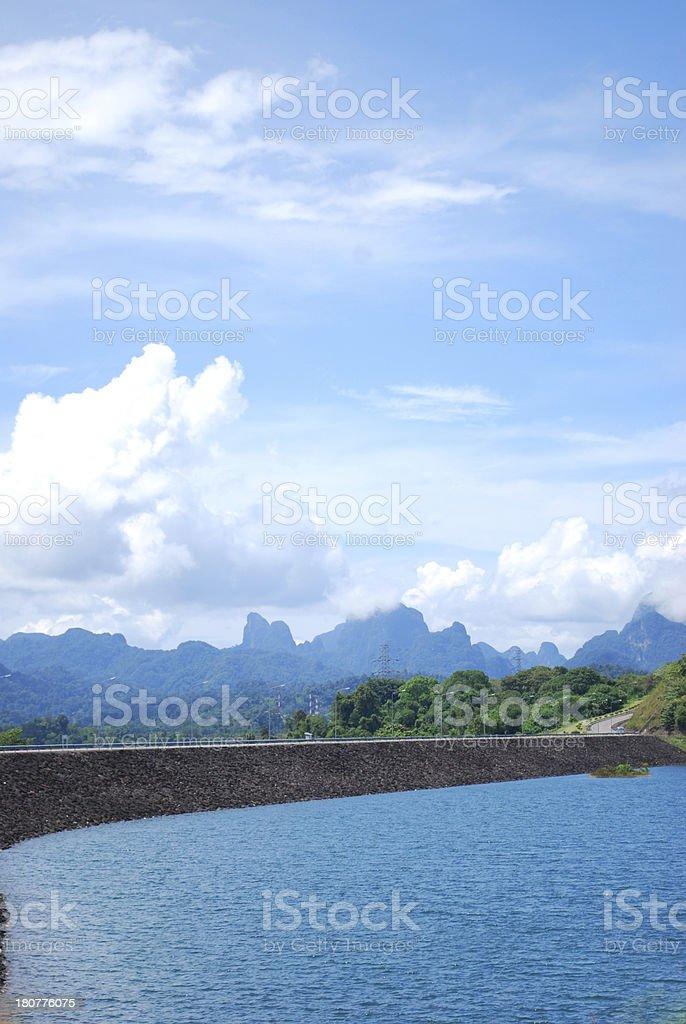 barrage in Thailand stock photo