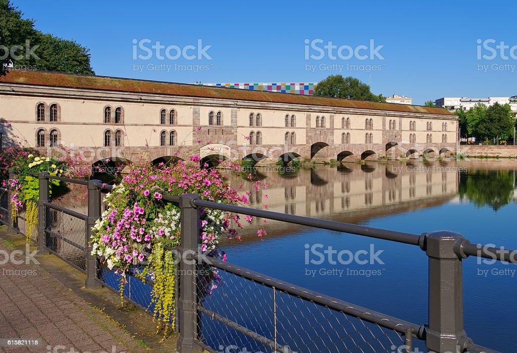 Barrage Vauban in Strasbourg, Alsace stock photo