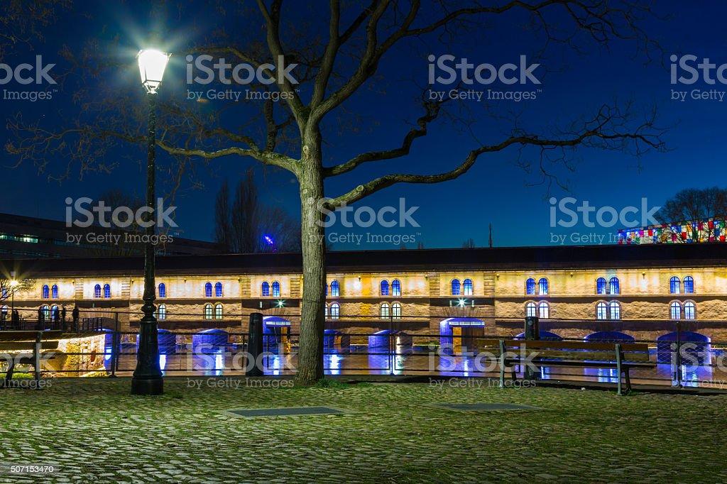 Barrage Vauban, Ponts Couverts in Strasbourg, France stock photo