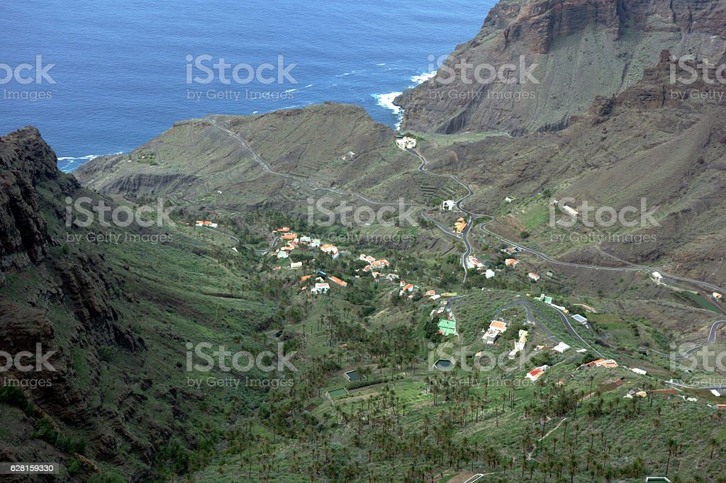 Barranco de Taguluche, La Gomera, Canary Islands, Spain stock photo