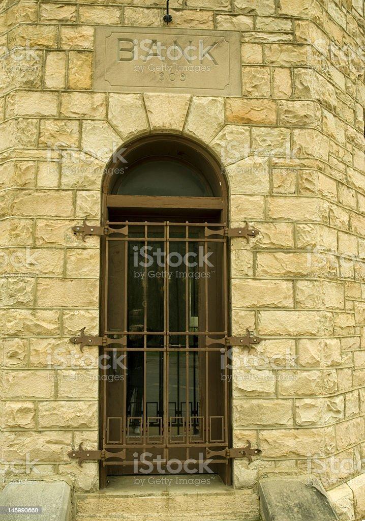 Barred Bank Door royalty-free stock photo