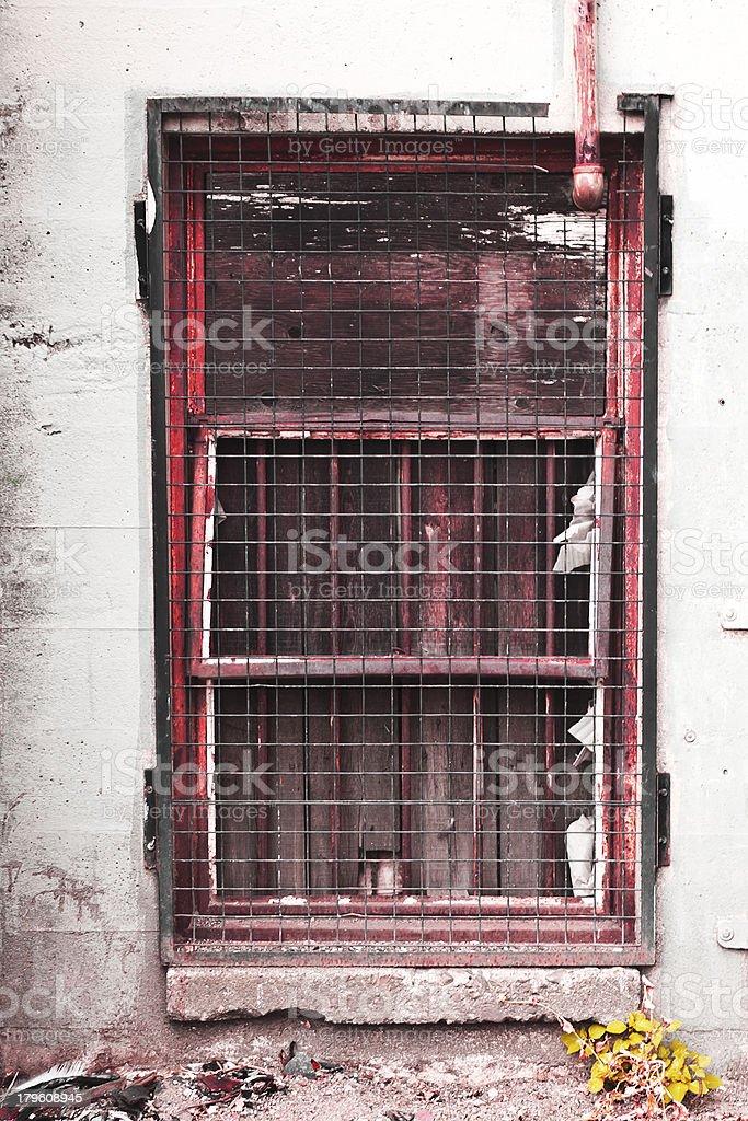 Barred Ghetto Door royalty-free stock photo