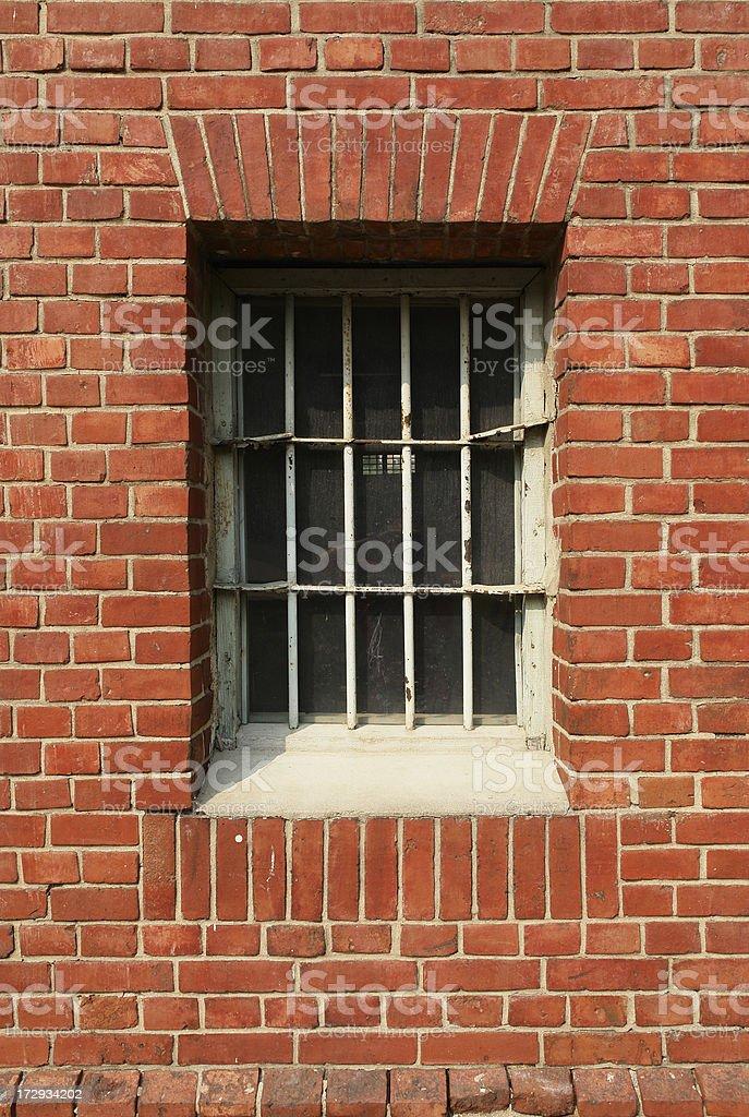 Barred Prison Window royalty-free stock photo