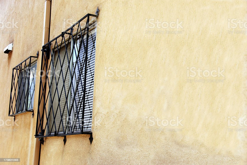 Barred Window and Wall royalty-free stock photo