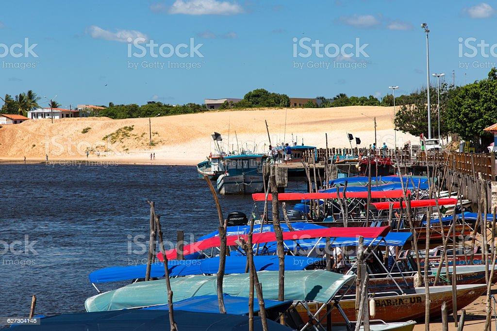 Barreirinha, Lençois Maranhenses, Maranhão, Brazil stock photo