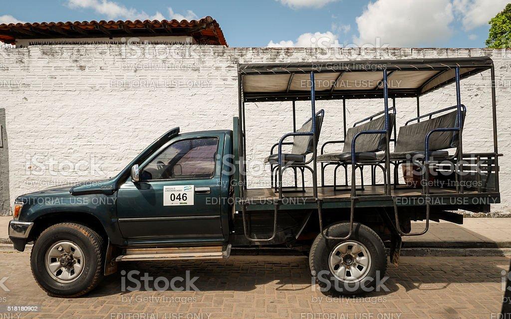 Barreirinhas tour truck, Brazil stock photo