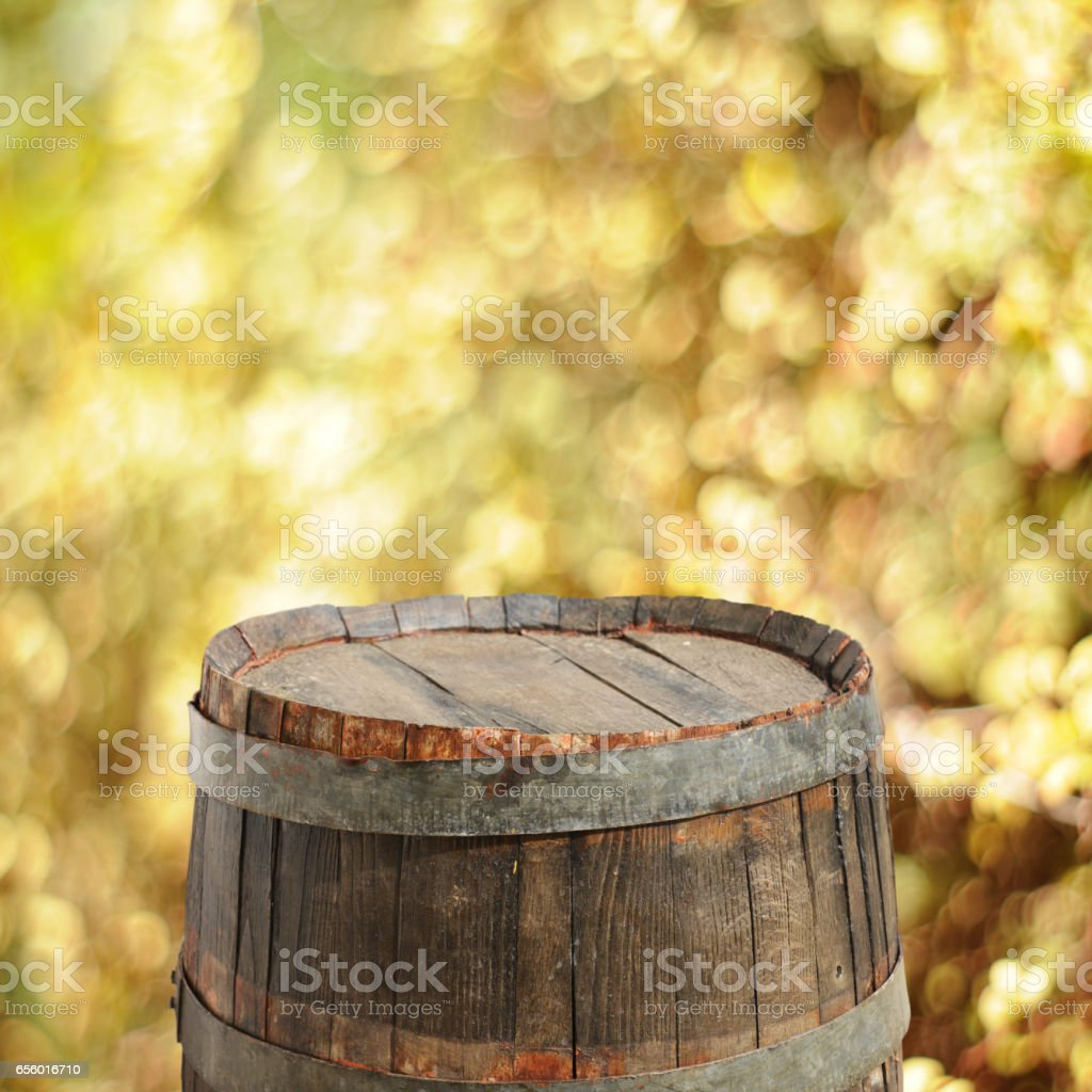 Barrel background stock photo