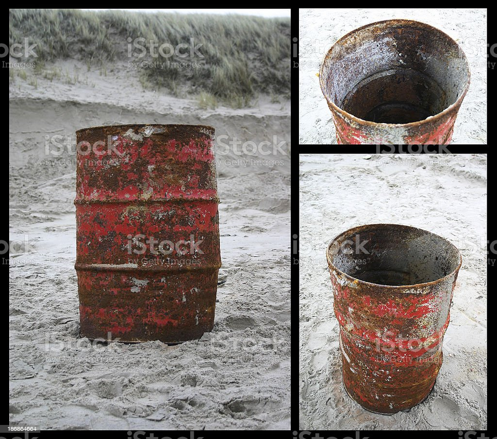 Barrel in different views stock photo