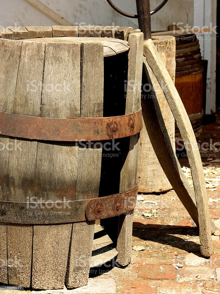 Barrel in Progress royalty-free stock photo