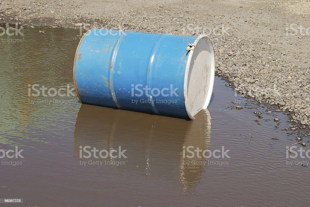 barrel in water stock photo