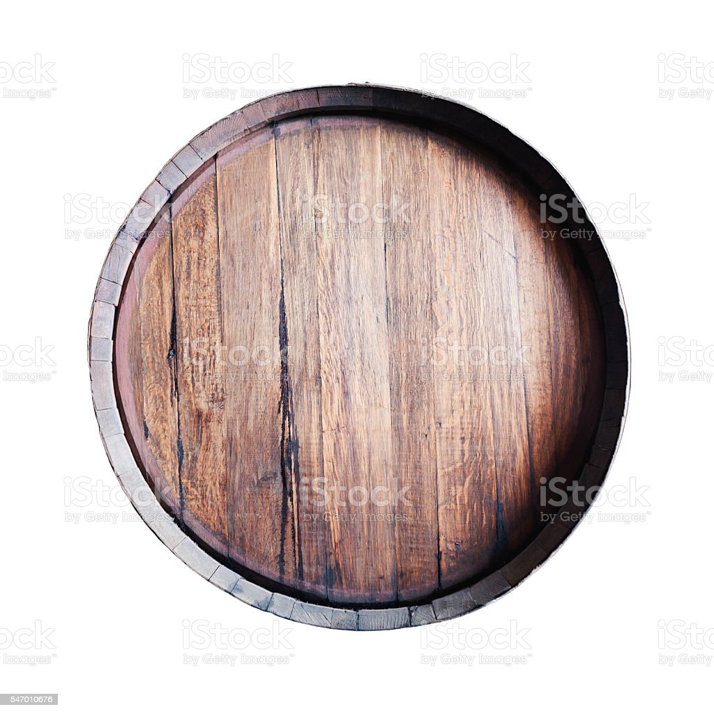 Barrel isolated on white background. stock photo