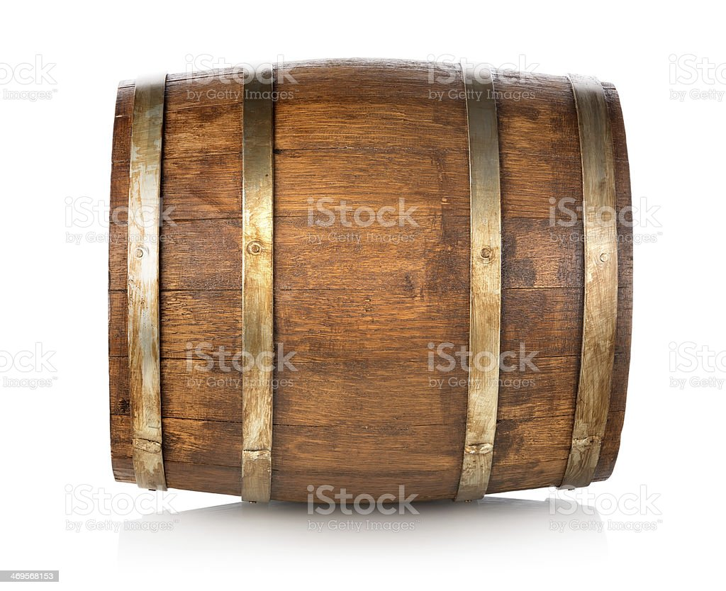 Barrel made of wood stock photo