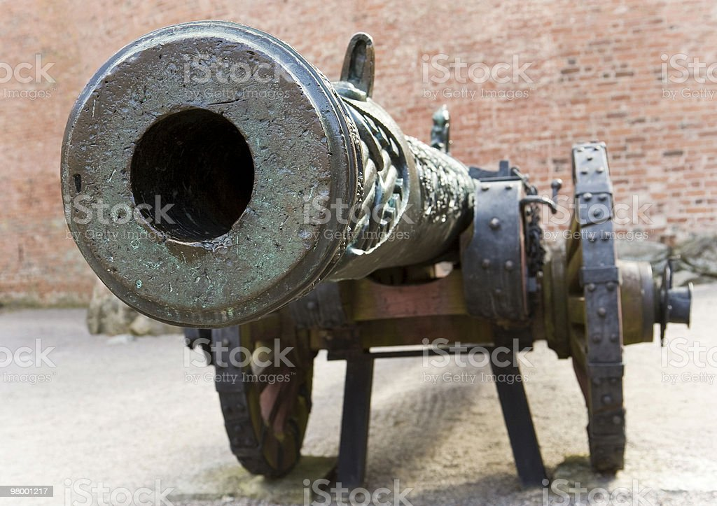 Barrel of a cannon stock photo