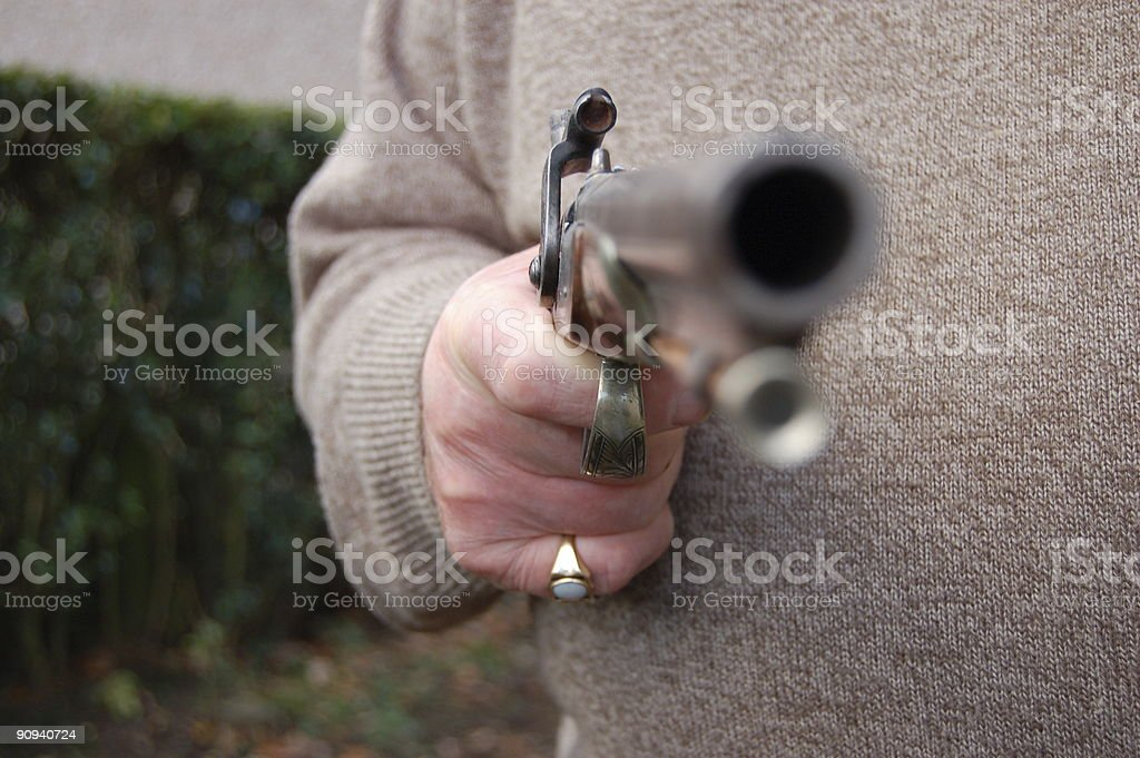 Barrel of a gun. royalty-free stock photo