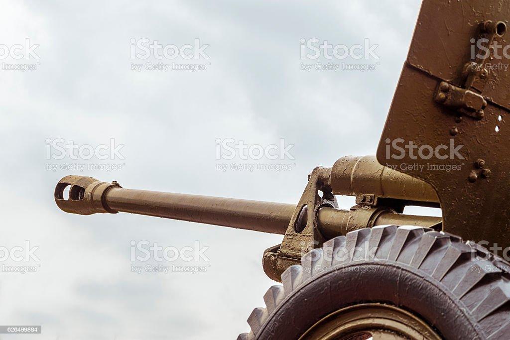 Barrel of artillery cannon stock photo