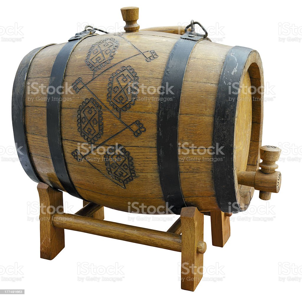 Barrel on stand. royalty-free stock photo