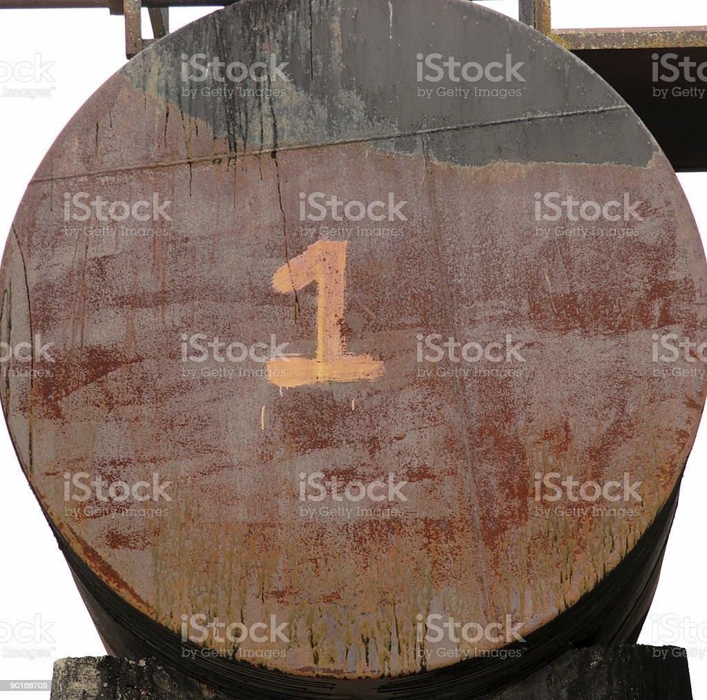 barrel one/6 (one thru six series) stock photo