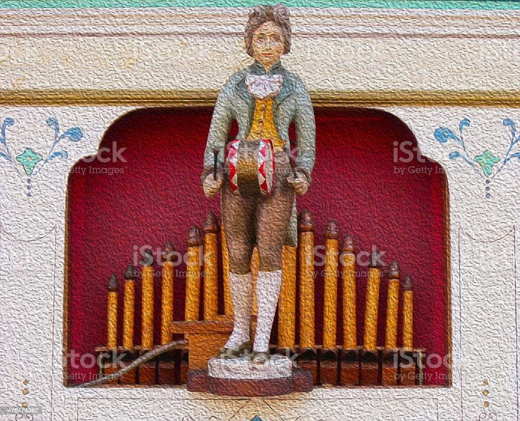 barrel organ illustration stock photo