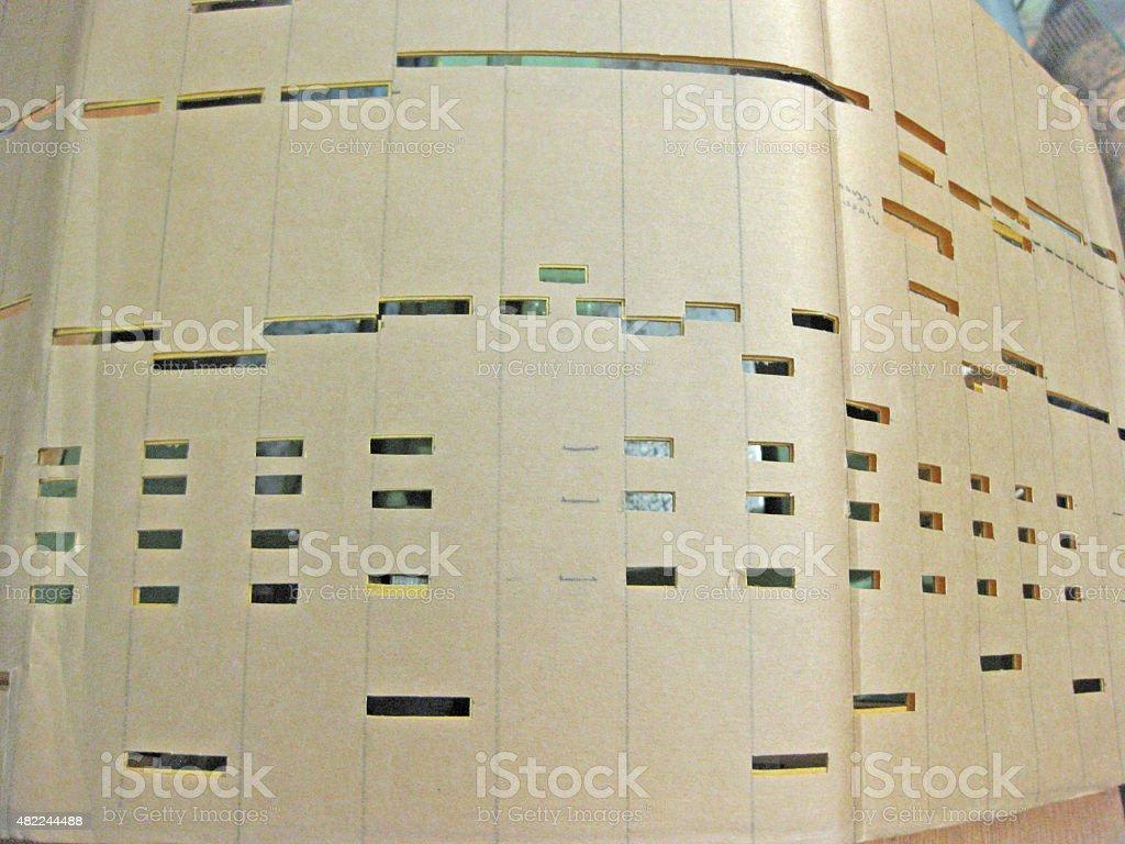 barrel organ music book stock photo