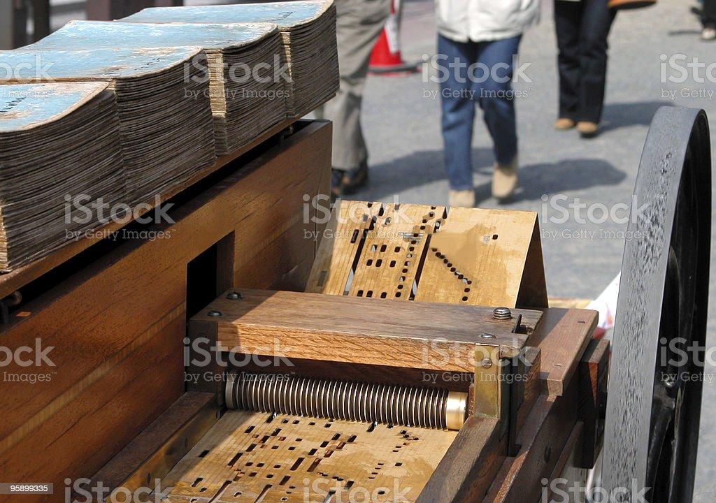 Barrel organ stock photo