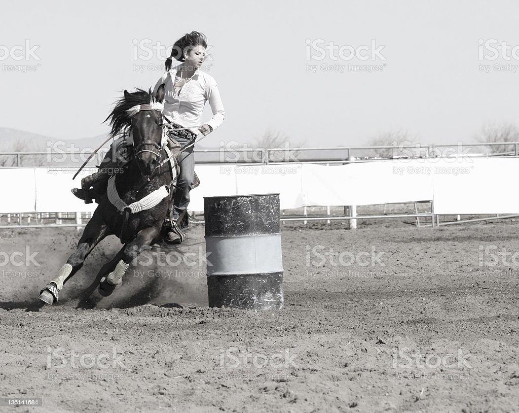 Barrel Race - Stock Image  Rodeo, Horse, Motion, Cowboy, Activity stock photo