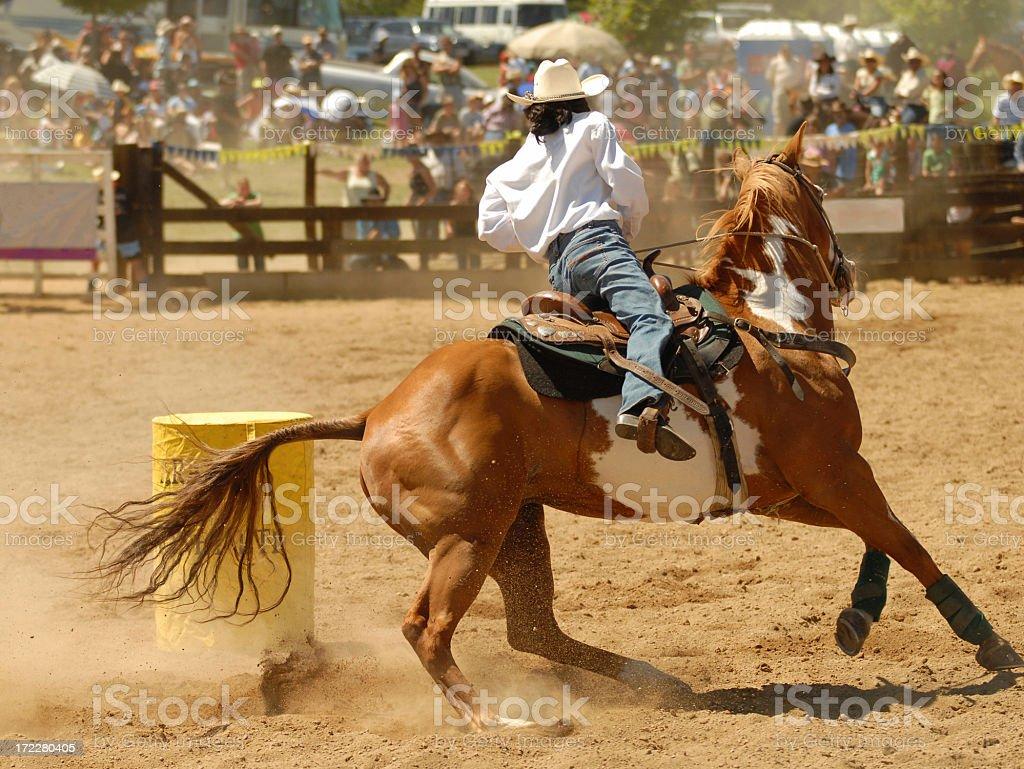 barrel racer stock photo