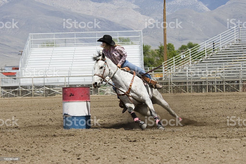Barrel Racer - Stock image  Rodeo, Horse, Motion, Cowboy, Activity stock photo