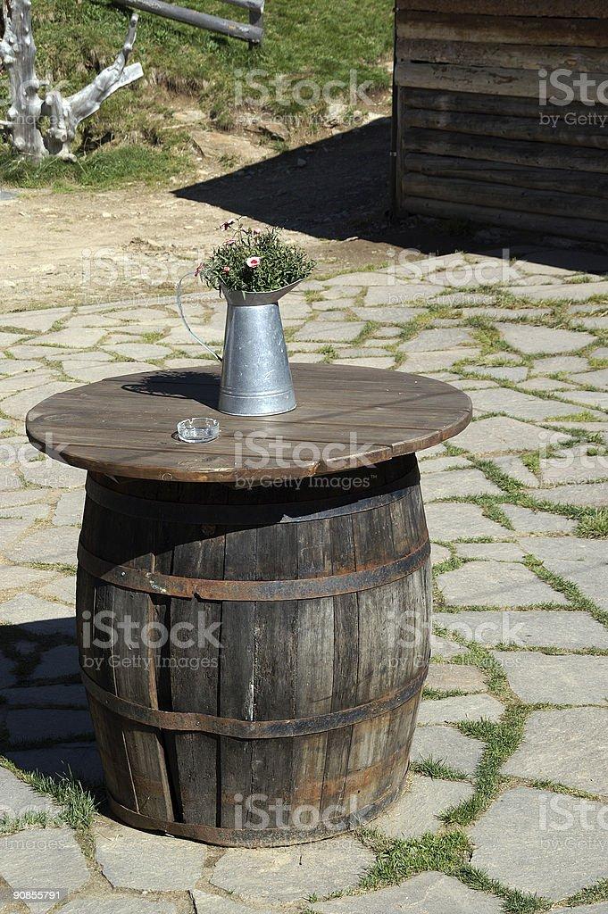 barrel table royalty-free stock photo